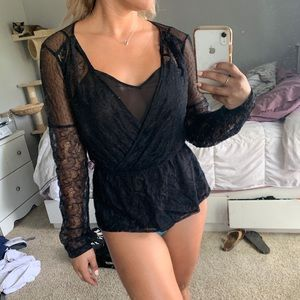 Black lace long sleeve